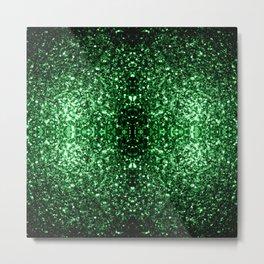 Glamour Dark Green glitter sparkles Metal Print