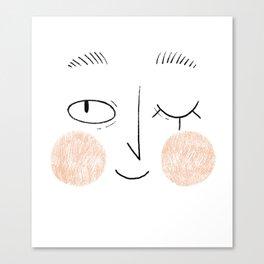 Winky Face Canvas Print