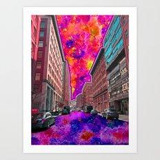 Downtown NYC Art Print