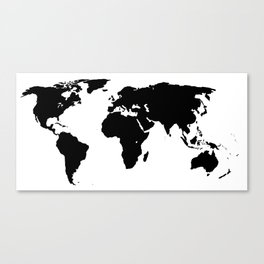World Outline Canvas Print
