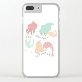 Colorful mermaids Clear iPhone Case