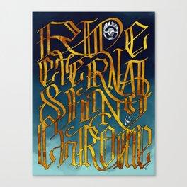 Ride Eternal Shiny & Chrome Canvas Print