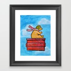 The Brown Bearon Framed Art Print