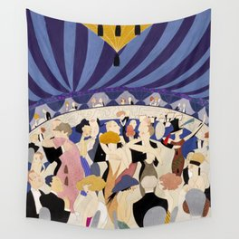 Dancing couples in jazz age nightclub Wall Tapestry