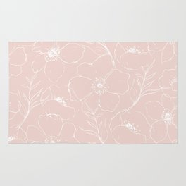 Floral Simplicity - Pink Rug