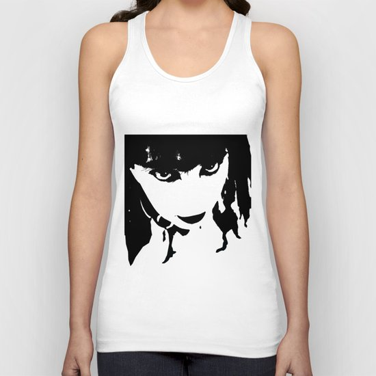 Abstract Face 4 Unisex Tank Top