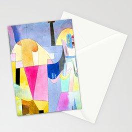 Paul Klee Black Columns in a Landscape Stationery Cards