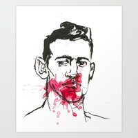 man with bloody nose 41 Art Print