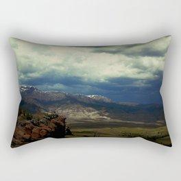 Storm Creeping into South Fork Rectangular Pillow
