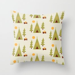 campout Throw Pillow