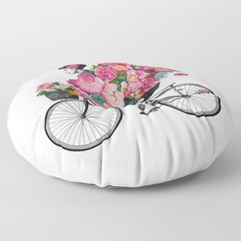 floral bicycle Floor Pillow