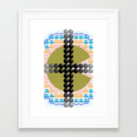 pacman Framed Art Prints featuring PacMan  by Freckled King