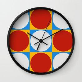 Dots on Checkerboard Wall Clock