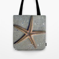 starfish Tote Bags featuring Starfish by Nichole B.