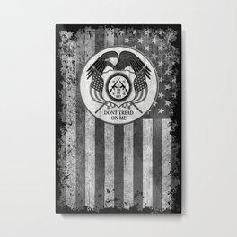 Faith Hope Liberty & Freedom Eagle on US flag Metal Print