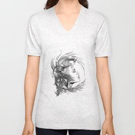 BikerChick Unisex V-Neck