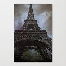 Rain in Paris Canvas Print