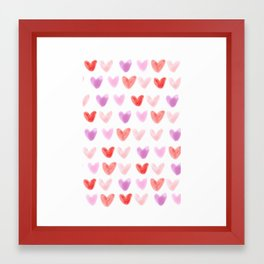 Love Hearts Framed Art Print