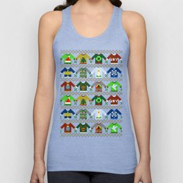 The Ugly 'Ugly Christmas Sweaters' Sweater Design Unisex Tank Top