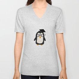 Penguin nerd Unisex V-Neck