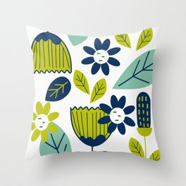 Something floral Throw Pillow