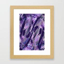 Thunder Plum Abstract Framed Art Print