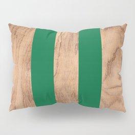 Wood Grain Stripes - Green #319 Pillow Sham