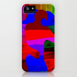 Rainbow kiss iPhone Case