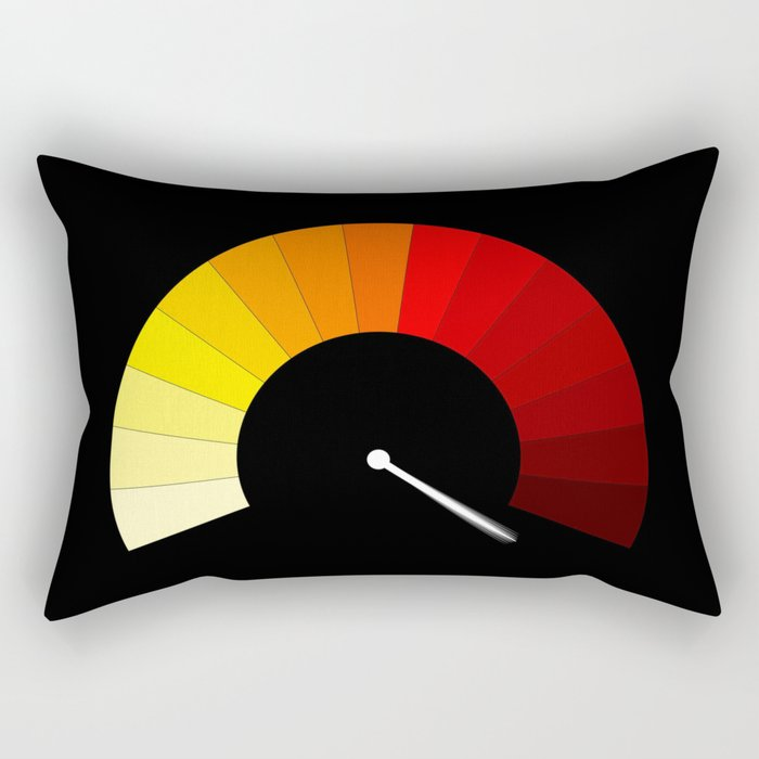 Blank In The Red Rectangular Pillow