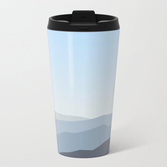 Blue Landscape Metal Travel Mug