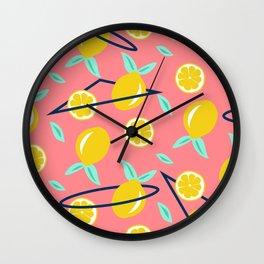 Lemons party #society6 #decor #buyart Wall Clock