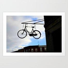 Suspended Bike Art Print
