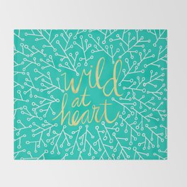 Wild at Heart – Turquoise Throw Blanket