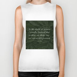 In the depth of winter,I finally learned that  within me there lay an invincible summer-Albert Camus Biker Tank