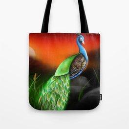 Magic Peacock Tote Bag