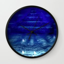 Underwater Pyramids Wall Clock