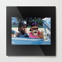 Ice Cube x Master Roshi Metal Print