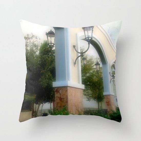 Plaza de Rincon Throw Pillow