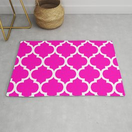 MOROCCAN PINK AND WHITE PATTERN Rug
