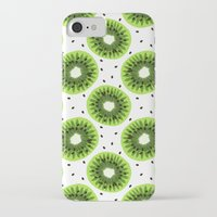 kiwi iPhone & iPod Cases featuring Kiwi by beach please