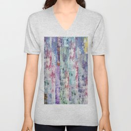 Abstract 195 Unisex V-Neck