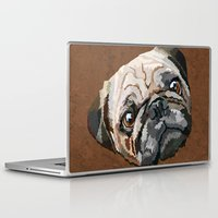 pug Laptop & iPad Skins featuring pug by Ancello