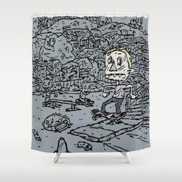 Manual pad Shower Curtain