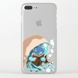 Reading Jellyfish Clear iPhone Case