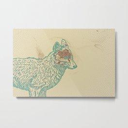 One Fox Metal Print