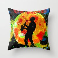 new orleans Throw Pillows featuring New Orleans  by Saundra Myles