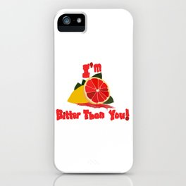 Bitter Grapefruit iPhone Case