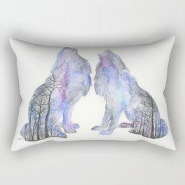 Midnight howl Rectangular Pillow