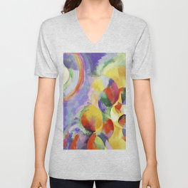"""Robert Delaunay """"Simultaneous contrasts sun and moon"""" Unisex V-Neck"""