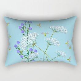 Kentucky Wildflowers and Pretty Bugs Rectangular Pillow